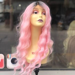 Pink ombré Halloween costume Wig 2019 baby Pink